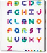 Colorful Abstract Font Canvas Print