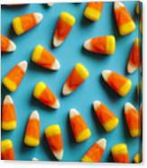 Colorful Candy Corn For Halloween On A Canvas Print