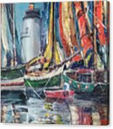 Colorful Harbor Canvas Print