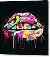 Colorful Lips Canvas Print