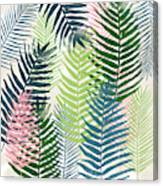 Colorful Palm Leaves 2- Art By Linda Woods Canvas Print