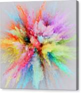 Colorful Powder Explosion Canvas Print