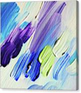 Colorful Rain Fragment 2. Abstract Painting Canvas Print