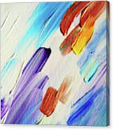 Colorful Rain Fragment 3. Abstract Painting Canvas Print