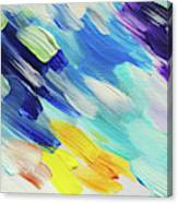 Colorful Rain Fragment 5. Abstract Painting Canvas Print