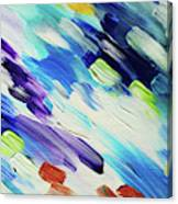Colorful Rain Fragment 6. Abstract Painting Canvas Print