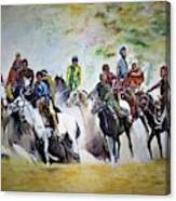 Colors In Buzkash Sport Canvas Print
