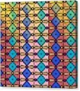 Coloured Glass Window Canvas Print