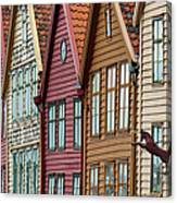 Colourful Houses In A Row Canvas Print