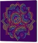 Colourful Rainbow Mandala Lavender Canvas Print