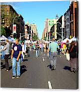 Columbus Day On Amsterdam Ave. Upper West Side, New York 2008 Canvas Print
