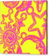Comic Constellation Canvas Print