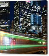 Commuter Train In Downtown Chicago Canvas Print