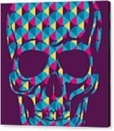 Conceptual Human Skull. Vector Canvas Print
