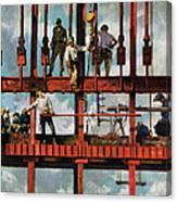 Construction Workers On Site Canvas Print
