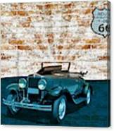 Convertible Vintage Car Canvas Print