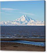 Cook Inlet And The Alaska Range From Ninilchik Canvas Print