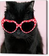 Cool Cat Wearing Sunglasses Canvas Print