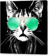 Cool DJ Cat Canvas Print