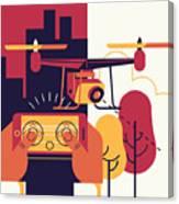 Cool Vector Trendy Flat Design Canvas Print