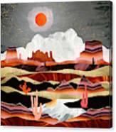 Coral Desert Lake Canvas Print