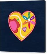 Corazon 4- Art By Linda Woods Canvas Print