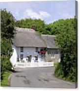 Cornish Thatched Cottage Canvas Print