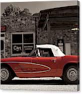Corvette Cafe - C1 Canvas Print