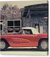 Corvette Cafe - C1 - Vintage Film Canvas Print