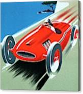 Cote D Azur, French Rivera Vintage Racing Poster Canvas Print