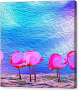 Cotton Candy Trees Canvas Print