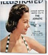 Countess Consuelo Crespi, 1956 Swimsuit Sporting Look Sports Illustrated Cover Canvas Print