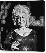 Country Singer Dolly Parton In Concert Canvas Print