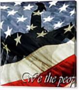 Cowboy Patriot Canvas Print