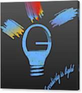Creativity Is Light Canvas Print