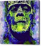 Frankenstein Watercolor Canvas Print