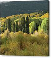Crested Butte Colorado Fall Colors Panorama - 1 Canvas Print