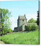 Crighton Church And Track Canvas Print