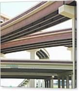 Crisscrossing Freeway Overpasses Canvas Print