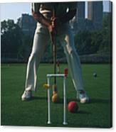 Croquet Player Canvas Print