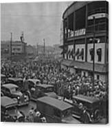 Crowd At Wrigley During World Series Canvas Print