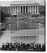 Crowd Of People Attending A Civil Rights Canvas Print