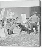 Crowd Protesting President Nixon Canvas Print