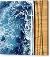 Cruise Ship And Ocean Canvas Print