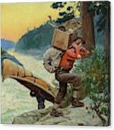 Cruisers Making Portage, 1910 Canvas Print