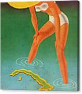 Cuba, Ideal Vacation Land Canvas Print