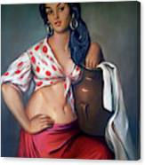 Cuban Girl Canvas Print