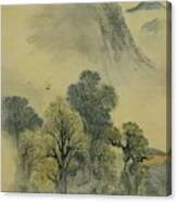 Cuckoo Flying Over New Verdure Canvas Print