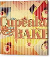 Cupcake Bake 1958 Canvas Print