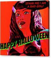 Custom Halloween Card She-devil Canvas Print